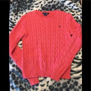 Ralph Lauren bright coral color sweater